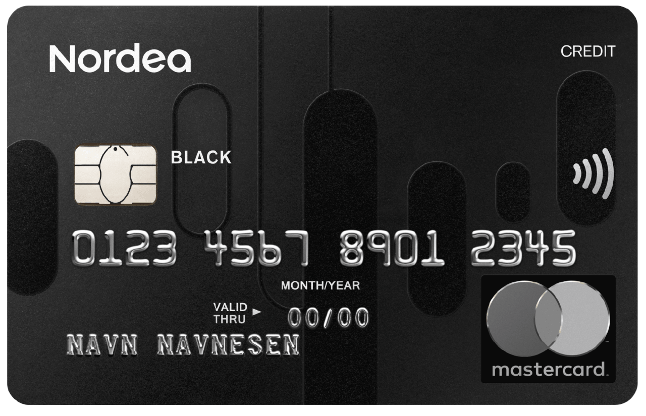 Mastercard, Black, Credit, Norway, Contactless