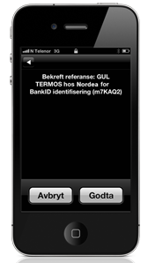 bankid kodeord iphone
